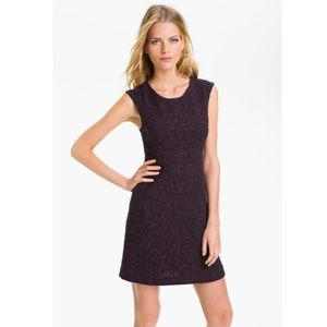 THEORY EUC Purple Tweed Franita Sheath Dress Varro